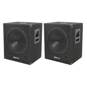 QTX-Sound-QT15SA-Active-Powered-Subwoofers-DJ-PA-Sub-Speakers-PAIR