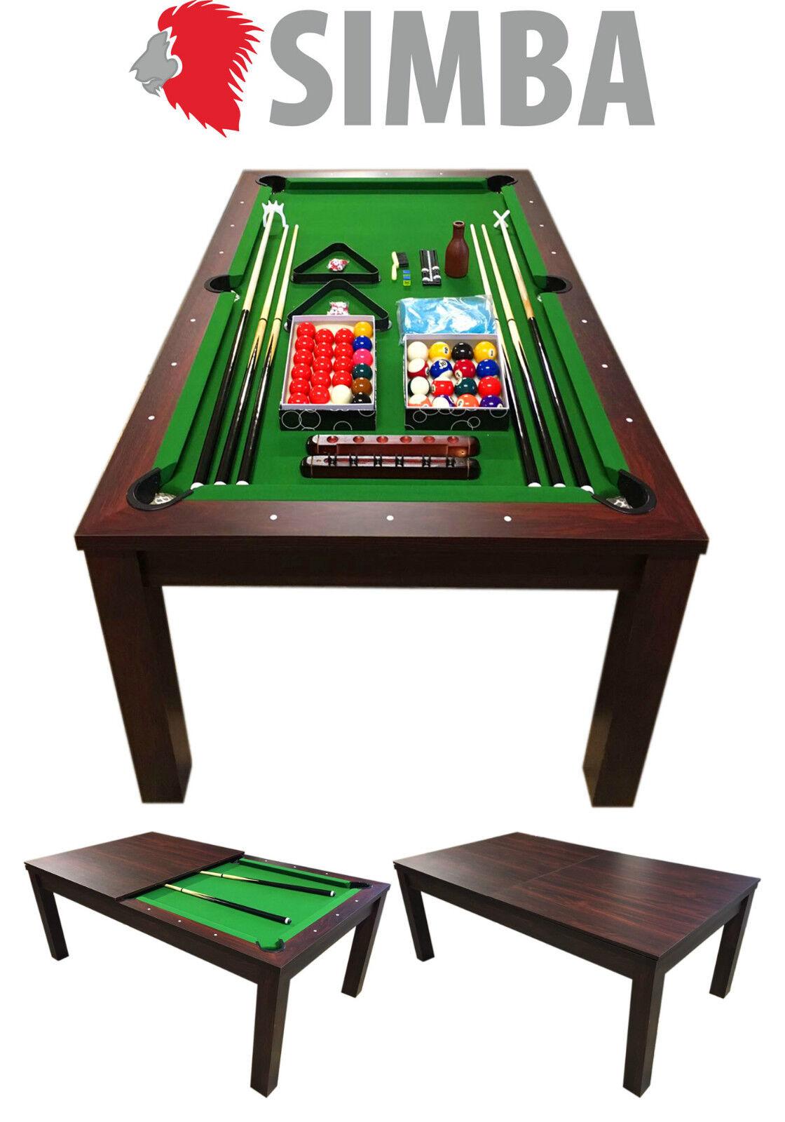 Mesa de billar 7 ft carambola Juegos billar con Plan de Cobertura verde STAR