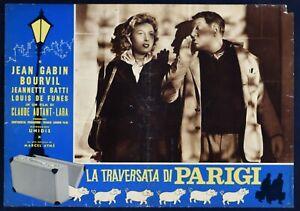 Fotobusta Die Überfahrt Von Paris Claude Autant Lara Jean Gabin Bourvil R126
