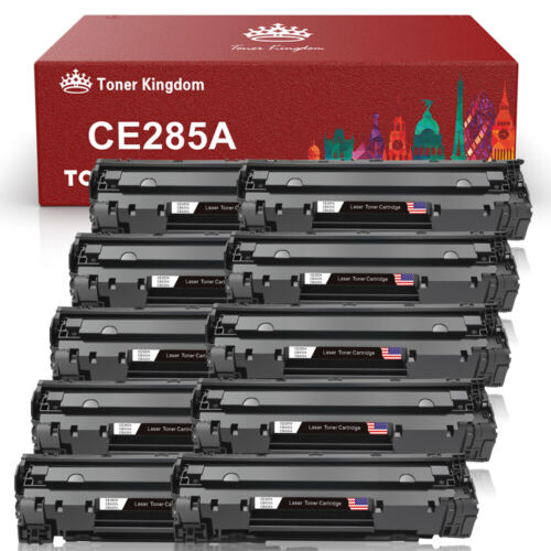 10x Premium CE285A 85A Black Toner Cartridge for HP LaserJet P1102W M1217nfw MFP