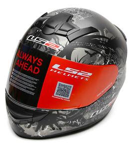 LS2 Helmet - FF352 Phobia -Antrathic Black-Full Face  Motorcycle Helmet