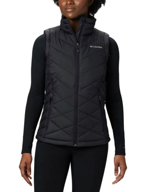 Columbia Women's Heavenly Vest Thermal Insulated Color Black Plus Size 1X