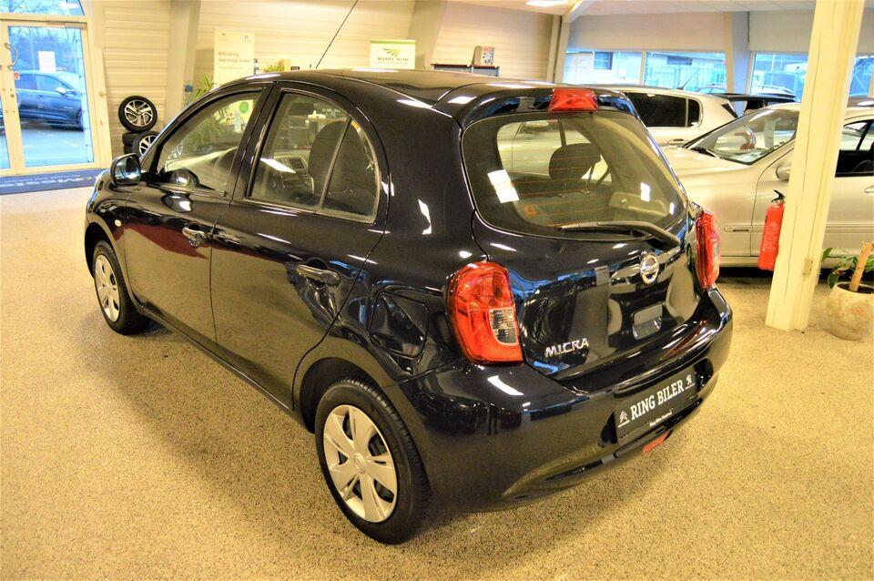 Nissan Micra 1,2 Visia Benzin modelår 2017 km 59000 Sort ABS