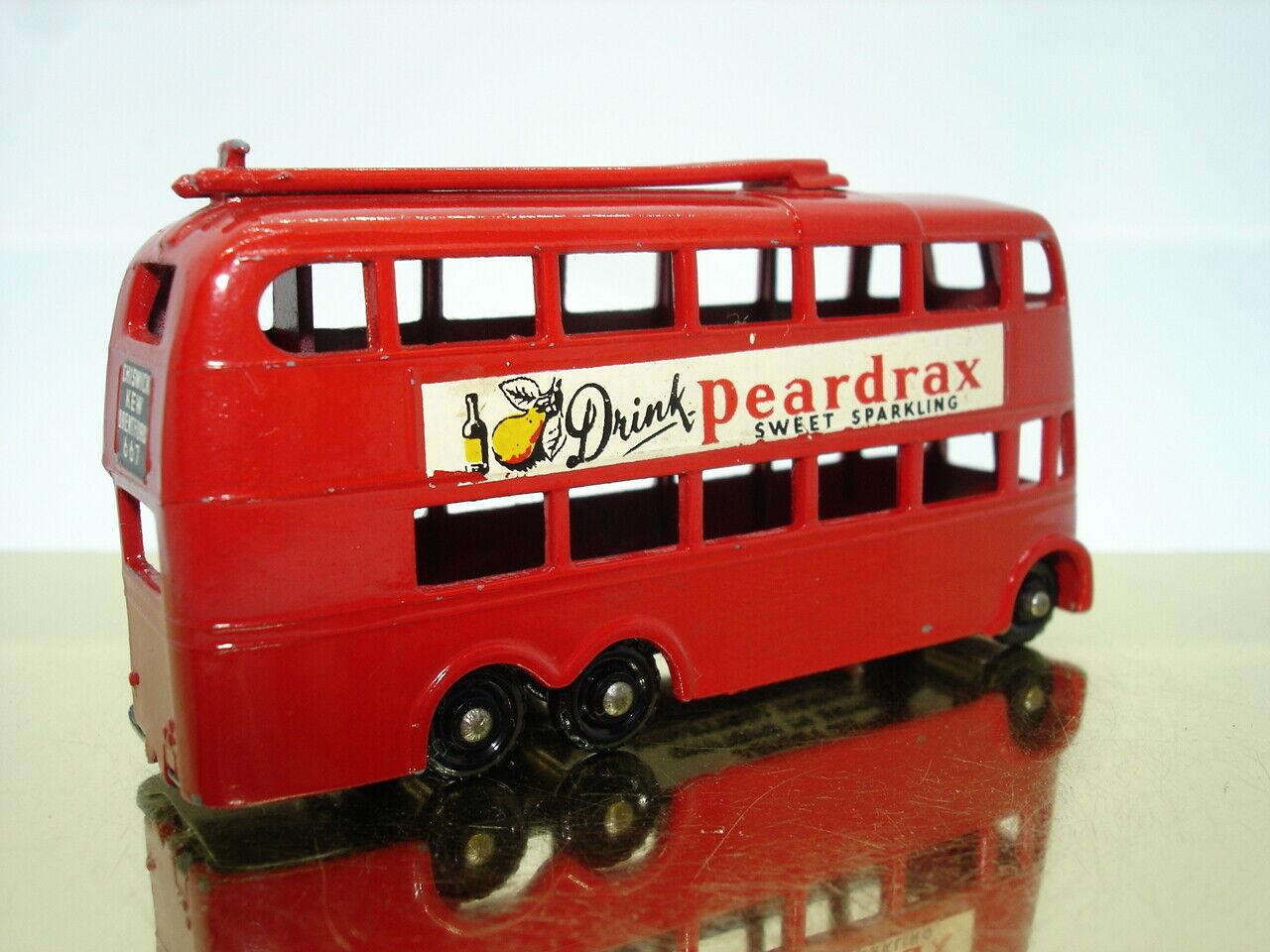 MATCHBOX 1-75 Petit Moko Lesney nº 56 a London trolleybus 1958 67 mm noirepr