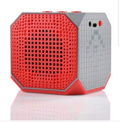 Blackweb Soundplay Bluetooth Speaker Portable  Wireless Rechargeable Red//Grey