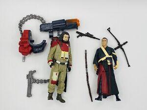 "Star Wars Force Link Chirrut Imwe & Baze Malbus Action Figures 3.75"" (Fast Ship)"
