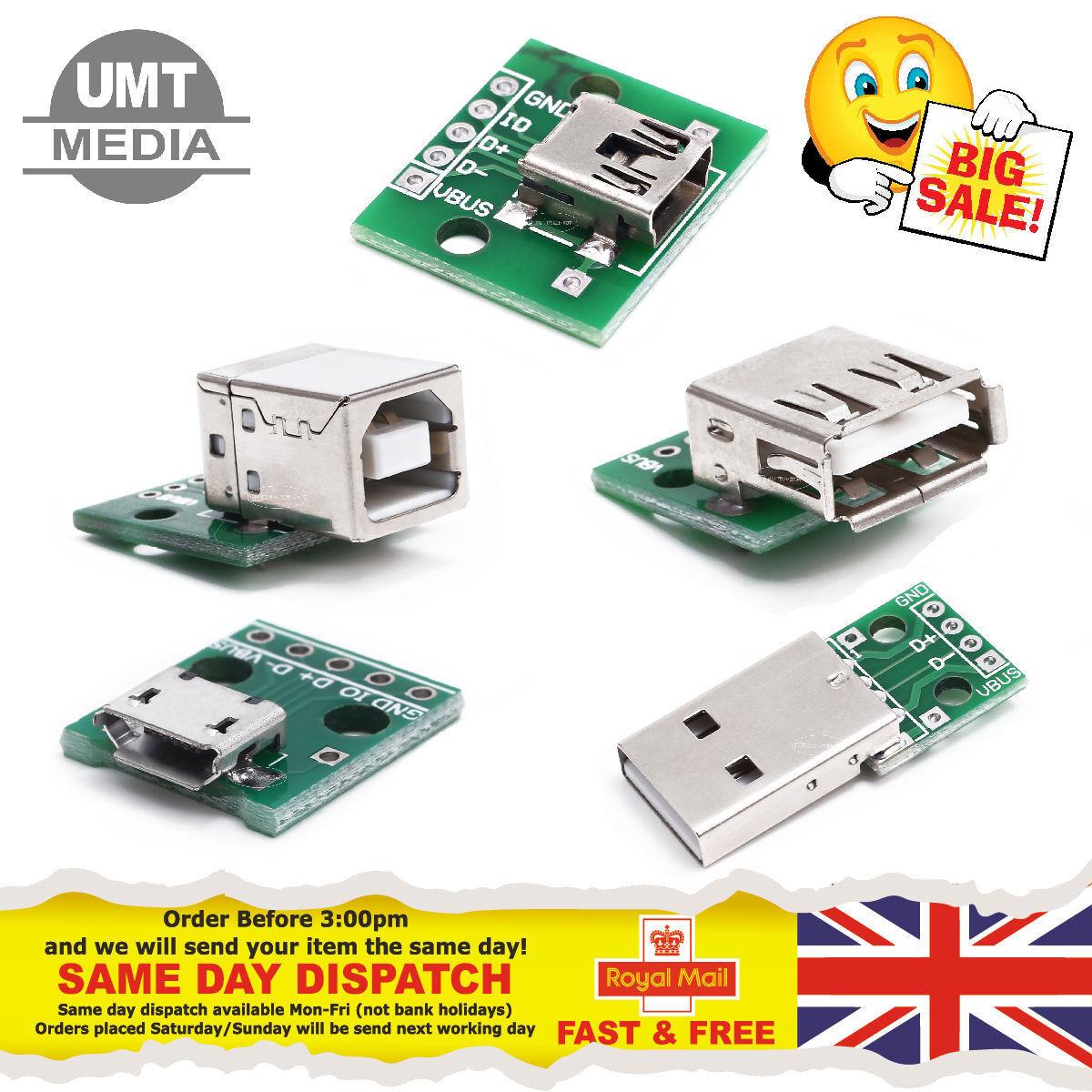 Usb Board Type A Or B Micro Mini Male Female Breakout Adapter Module Best Price Flash Drive Circuit Buy Arduino Pi