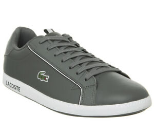 6c50ef7db6cd Image is loading Lacoste-Graduate-Trainers-Black-Grey-Trainers-Shoes