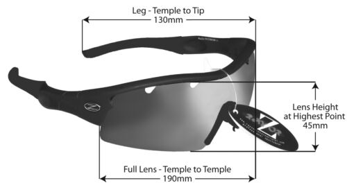 220 RayZor Uv400 White Sports Wrap Sunglasses Vented Smoke Mirrored Lens