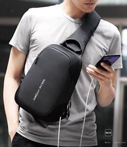 Mark Ryden Anti-thief Crossbody Bag Water Repellent Men Shoulder Bag 9.7 inc
