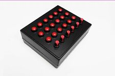 BBJ Sim Racing PC USB 30 Function Pro Button Box Rotary Encoders Red/Carbon