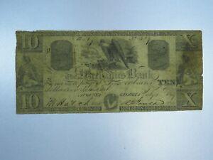 1849-10-Merchants-Bank-of-Augusta-Georgia-Obsolete-Currency-CU054-RN
