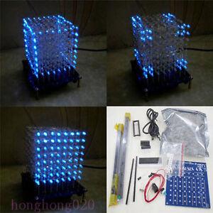 DIY-3D-Lichtwuerfel-LED-Cube-8x8x8-3D-Licht-Squared-512-LED-Bausatzteil-Kit