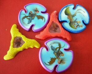 PVC-Lot-of-5-Special-Frisbee-Discs-2014-Dragons-2-4-039-039