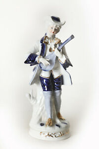 Porcelain-Playing-Music-Youth-White-Blue-Gold-Height-Ca-9-13-16in-124626