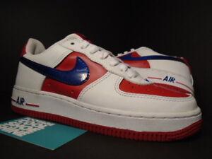 2004 Nike Air Force 1 Low WHITE ROYAL BLUE RED BLACK REMIX 307109-141 Sz 5.5