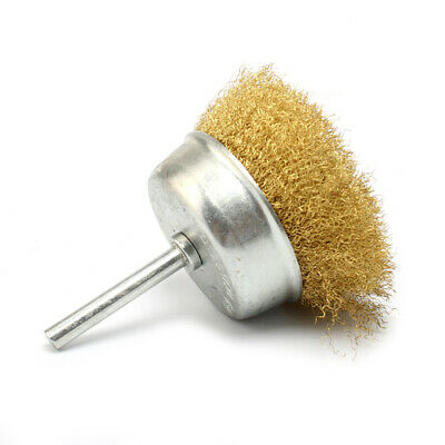 Descaling and Polishing 2Pcs 3 Brass Cup Wire Wheel Crimp Copper Brush with 10mm Bore Rotary for Angle Grinder Deburring