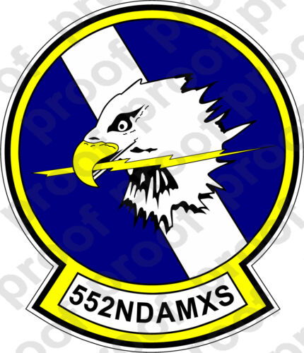 STICKER USAF 552ND AMXS
