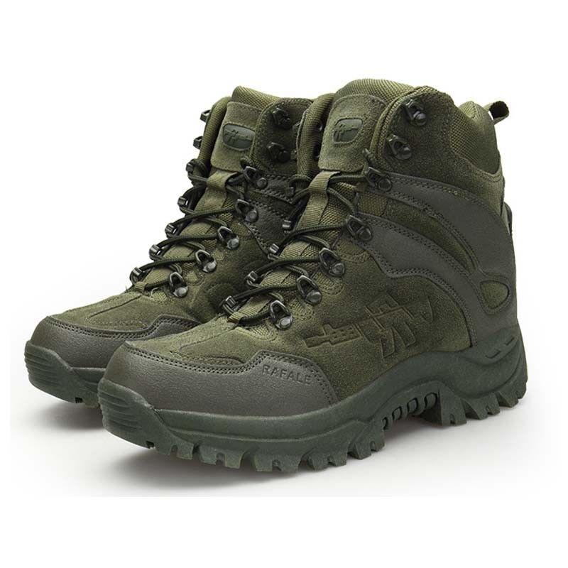 Men's Tactical Boots Leather Fleece Anti-slip Wear-resistant Sport shoes Sneaker