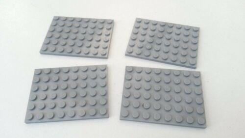 Grey Lego 6 x 8 Flat Plates 4x Light Blue Used Condition BR035