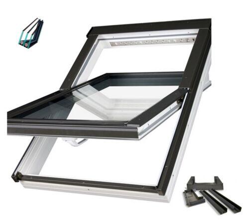 Dachfenster FAKRO PTP-V U5 114x118 superenergiesparende EZV Eindeckrahmen SK06