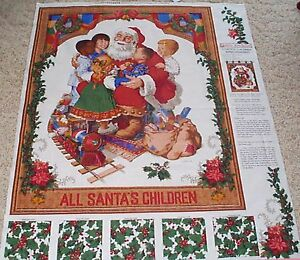 Santas children of the world wall panel fabric 100 cotton for Children of the world fabric