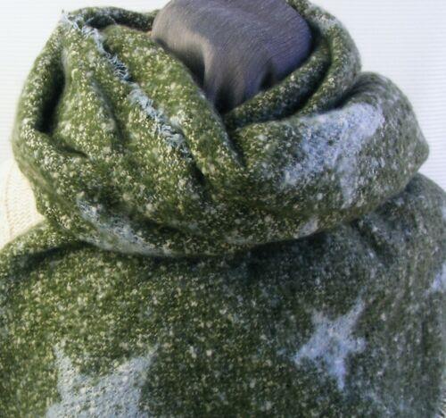 XXL Sciarpa da Donna Inverno Sciarpa Grande Stelle Dick lunga SCIARPA FRANGE SCIARPA ds4