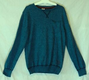 Boys-S-Oliver-Blue-Black-Speckle-Marl-Thin-Knit-Pullover-Jumper-Age-12-Years