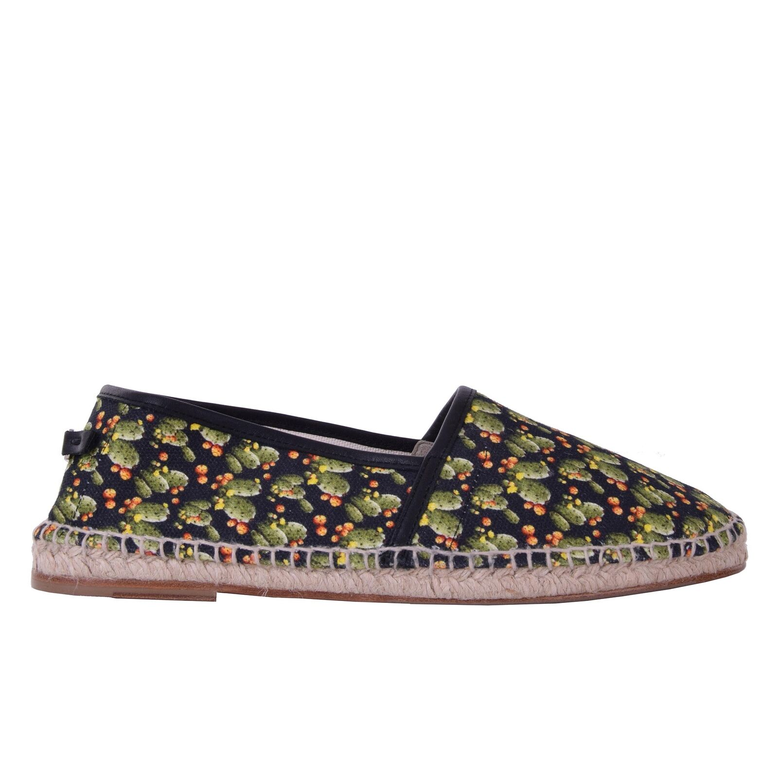 DOLCE & GABBANA Cactus Printed Canvas Espadrilles Shoes TREMITI Black 06235