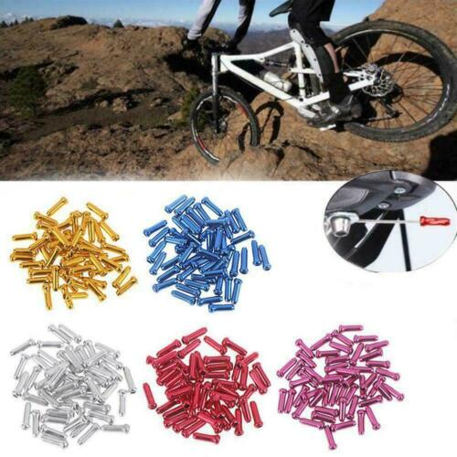 50 Piece Bicycle Brake Cable End Caps Al Alloy Bike Shifter Cable Tip Z1X6