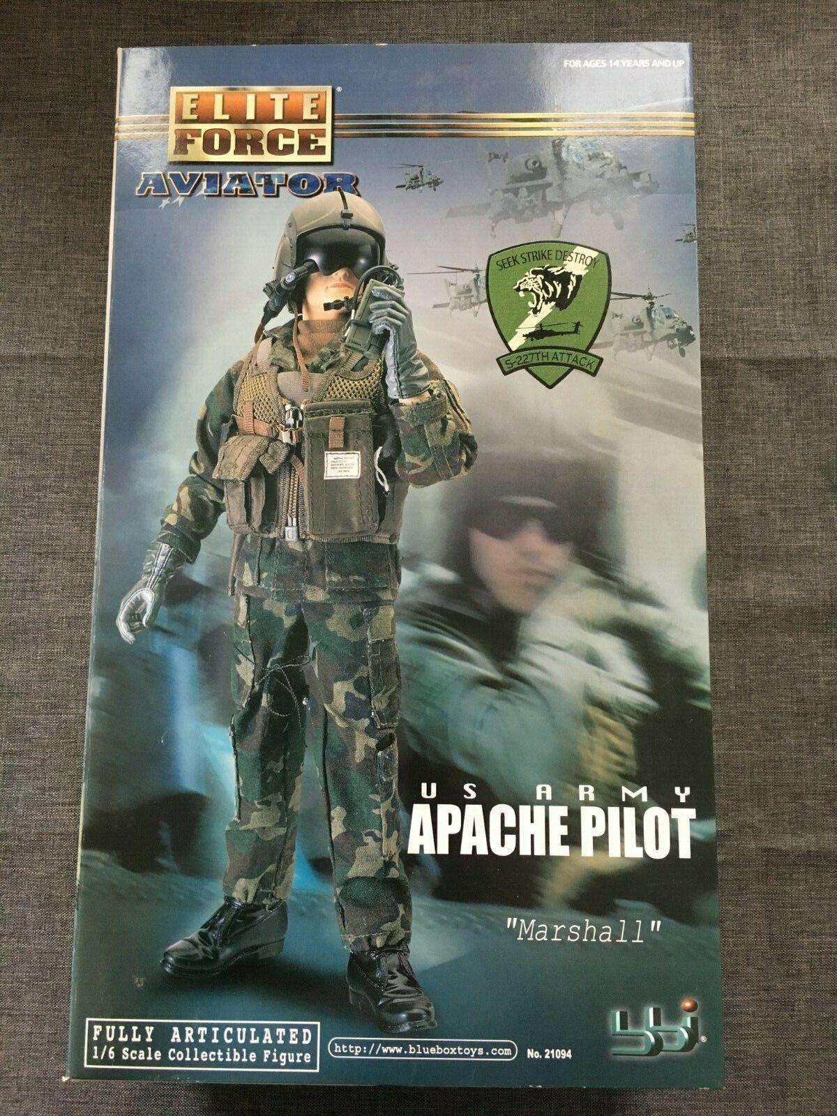 BBI BBI BBI 1 6 Scale 12  Elite Force US Army Apache Pilot Marshall Action Figure 21094 35a313