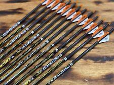 "Beman Center Shot Arrows 5/"" Feathers ST RPS INSERTS  CUT FREE"