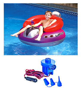 Strange Details About New Swimline 9078 Pool Ufo Squirter Inflatable Lounge Chair W 12 Volt Air Pump Ocoug Best Dining Table And Chair Ideas Images Ocougorg