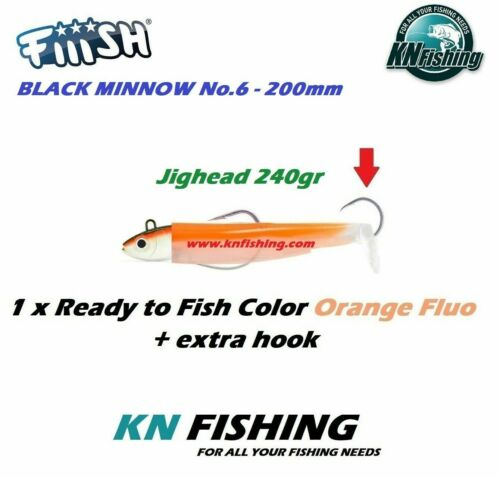 FIIISH /'BLACK MINNOW 200mm/' No.6 Silicon Lure Ready Plus Assist Hook 240g CANDY