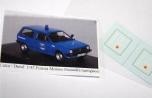 DECAL-CALCA-1-43-Policia-Mossos-d-Esquadra-Catalunya-Primera-decoracion