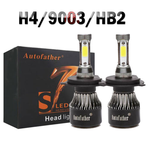 2x 4-Side LED Headlight 660W 72000LM Bulb Kit 9006 9005 H4//HB2//9003 H7 H8//H9//H11