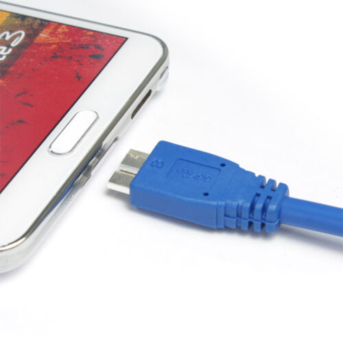 3FT USB Cable High Speed 3.0 A Male to Micro B for Galaxy Note 3 S5 Blue