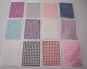 176-X-2-3-4MM-SELF-ADHESIVE-HALF-BACK-PEARLS-STICK-STICKY-ON-GEMS-EMBELISHMENT