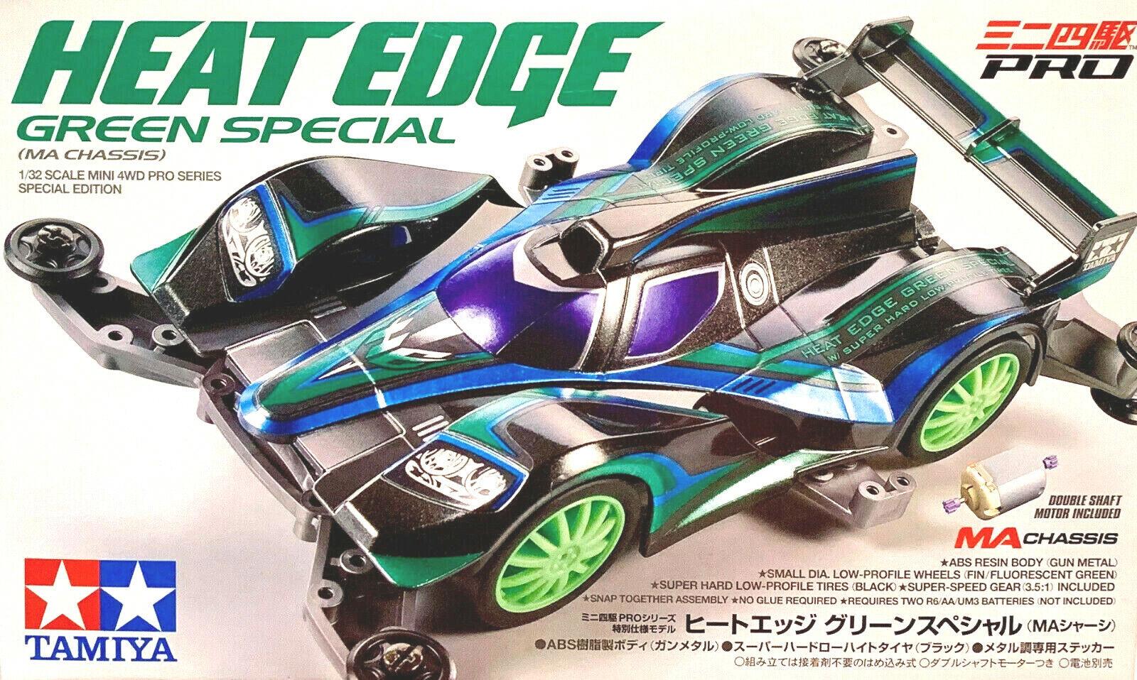 Tamiya 95299 1//32 Mini 4WD Pro Car Kit MA Chassis Heat Edge Green Special