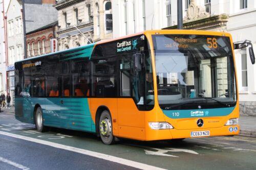 Cardiff Bus 110 6x4 Quality Bus Photo