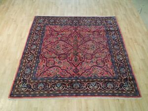 Image Is Loading Pink Hand Woven Rug 7x7 Square Fine Persian