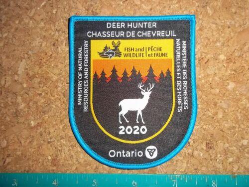 ONTARIO 2020 MNR+F DEER PATCH moose bear big game hunter hats for hides hunting