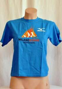 Mizuno-Kids-T-Shirt-with-Motif-Size-M-Blue-New
