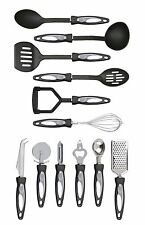 12pc Set 5 utensili in nylon 7 Strumenti in Acciaio Inox Da Appendere ANELLI IMPUGNATURA ERGONOMICA