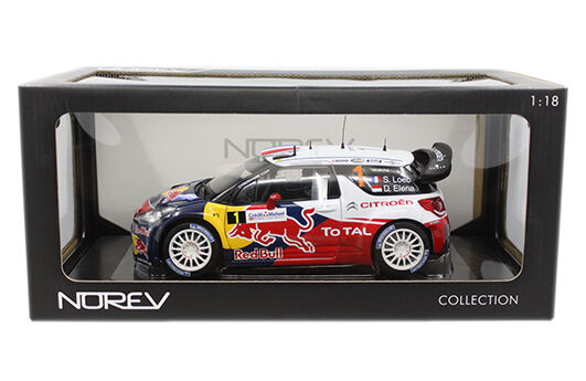 Norev Citroen DS3 WRC WORLD CHAMPION Rallye de France 2012 rojobull Loeb Elena