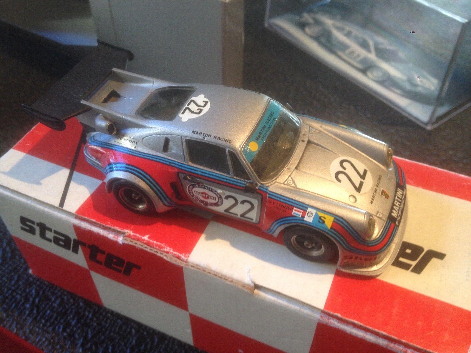 STARTER PORSCHE 911 RSR TURBO MARTINI LE MANS 1974  43 BUILT KIT