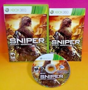 Sniper-Ghost-Warrior-Microsoft-Xbox-360-2010-Rare-Complete-Fun-Shooter-FPS