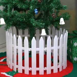 1 10pcs Plastic Picket Fence Miniature Garden Christmas Xmas Tree