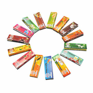 250-Leaves-Lots-5-Fruit-Flavored-Smoking-Cigarette-Hemp-Tobacco-Rolling-Papers
