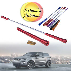 1-Pcs-Hot-Red-Universal-Car-Antenna-Aluminum-Alloy-Extensible-Decor-Aerial-Decor